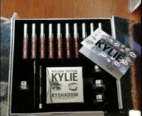 big makeup palette - Kylie Holiday Box makeup Set KYLIE Holiday Big Box Set Palette Shadow Matte Liquid Lipstick for Christmas gift by DHL Free