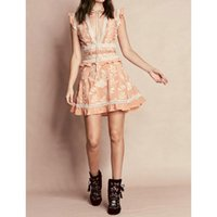 apricot cocktail dress - 2016 Fashion New Wemen Hollow Out Panelled Embroidery Flower Dress Apricot Lace Cocktail Evening Dress