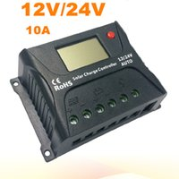 оптовых панели солнечных батарей регулятора контроллер заряда-Хорошее качество PWM Солнечный контроллер 10A Солнечный регулятор 12V 24V ЖК-дисплей USB 5V панели солнечных батарей зарядки регулятора зарядное устройство