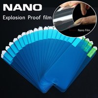 Wholesale Nano Explosion Proof screen protector Film soft Guard for iPhone Plus S for Samsung s7 edge S6 S5 not tempered glass