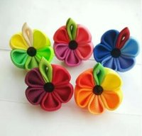 asian hands - The new men and women colours brooch brooches ribbon poppy flower children can also be worn by hand
