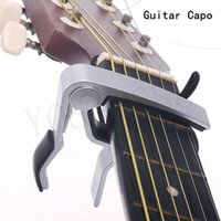 Wholesale New Silver Quick Change Clamp Key Acoustic Classic Guitar Capo For Tone Adjusting for Electric Acoustic Guitar Ukulele