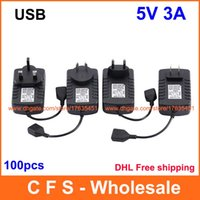 Wholesale 100PCS DC V A USB AC DC Power Adapter Charger Supply v3a for Tablet PC MID