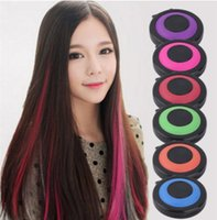 Wholesale Temporary Hair Color Powder Cake Colors Temporary Hair Chalk Powder Craze Soft Pastels Salon Party DIY Hair Colors