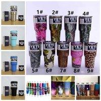 Wholesale 2017 Colorful yeti Tumbler Rambler Cups cooler cup oz Powder Coated Mugs Large Capacity Stainless Steel Tumbler Mug color