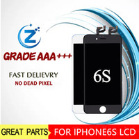 Wholesale Grade A LCD For iPhone S Assembly Inch Display With Touch Screen Digitizer Replacement Black White NO PIXEL ISSUES