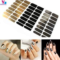 beauty tips summer - New Arrival Fashion Summer Nail Art Stickers D Beauty Golden Silver Black Decals Nails Patch Tips French Manicure Makeup Tools