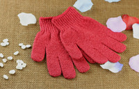 bath foams - Shower Bath Glove New Five Fingers Scrubber Exfoliating Massage Body Spong Bath Gloves Mitt SPA Foam Bath Glove Gifts PX G04
