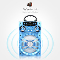 achat en gros de ms lecteur-Big LED Bluetooth Speaker 15W MS - 188BT Haut-parleur Bluetooth multifonction Big Drive Unit Bass Rétroéclairage coloré Radio FM Lecteur de musique