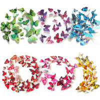 Wholesale 12 D PVC Magnet Butterfly Wall Stickers for Kids Rooms Wall Decoration Wall Stickers Home Decor Living Room