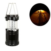 batteries led bulb - Ultra Bright Collapsible Camping Lantern Hiking Portable Torch Emergencies Outages Storms Flashlight and Multi Purpose Black