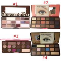Wholesale In Store HOT Makeup Eye shadow chocolate Bon Bons Sweet Peach chocolate bar Semi sweet eyeshadow palette waterproof DHL