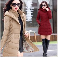 Wholesale New Warm Winter Jacket For Women Long Outerwear Parka Coat Fur Collar Hooded Woman Fashion Outwear Loose Clothing