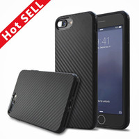 Wholesale Luxury Fashion Carbon Fiber Soft TPU Silicone Rubber Protective Case Back Cover For Iphone Plus S S With Opp Bag