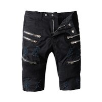 Pantalones vaqueros de los pantalones vaqueros de la manera de los pantalones vaqueros flacos negros de los hombres para los pantalones masculinos del dril de algodón
