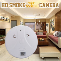 Wholesale HD P WIFI Smoke Detector camera IP Spy Hidden Camera Wireless Video Recorder P2P Home Office Security Cameras