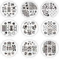 Цветущие инструменты RU-Оптово-10шт новый цветок искусства ногтя Изображение Штамповка Плиты Nail Stamp DIY советы Польский Шаблоны Трафарет для маникюра Инструменты STZA01-30