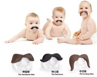 Wholesale 2017 Novelty Funny Mustache Baby Boy Girl Infant silicone Pacifier Orthodontic Dummy Beard Nipples