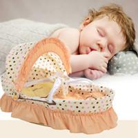 Wholesale Hot Sale Portable Baby Crib Multifunctional Infant Cradle Basket Nursery Newborn Travel Bed Set with Quilt Mattress Pillow VT0405
