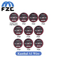 Wholesale Original ft UD Atomizer DIY Coil Clapton Wire m Kanthal A1 Clapton Wire for Electronic Cigarette Kanthal A1 Wire Heating