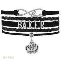 baker bread - Custom Infinity Love Christmas Gifts Bracelet Black Women Leather Custom Bracelet Christmas Infinity Love Baker Bread Charm Bracelets