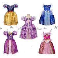 baby belle costume - Kids baby sleeping beauty Rapunzel snow white Cinderella belle frozen princess children party costume dress girls tutu ball gown Z571