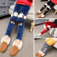 Wholesale 2016 New Arrivals Autumn Winter Children Girls Wool Trousers Pant Fashion Cotton Cartoon Leggings Size CM PM7490