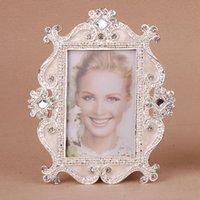 3 pouces vintage pendaison photo cadres pour enfant bébé anniversaire petite photo cadre Accueil Décoration bricolage en alliage de zinc Frame Crystall