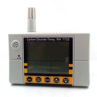 Vente en gros - Moniteur de qualité de l'air intérieur Digital CO2 Meter Thermomètre hygromètre humity meter CO2 Moniteur détecteur de gaz analyseur de gaz 0 ~ 2000ppm