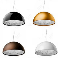 art dining rooms - Hot Dia cm Dia cm White Black Golden Brown Italy Flos Skygarden Big Pendant Lamps Fixture Chandelier Droplight Light Resin Lamp