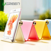 Wholesale Ugreen Universal White Mobile Phone Stand Flexible Desk Phone Holder For iPad iPhone Sony Nokia HTC Cellphone And Tablet Stand