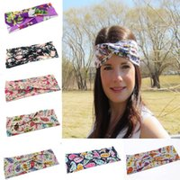 Wholesale Hot The new Europe And The United States Woman Printed Cross Hair Band Photo Fashion Headband