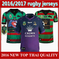 Wholesale top quality NRL National Melbourne storm Rugby jersey League South Sydney Rabbitoh Rugby jersey men Shirt size S XXL