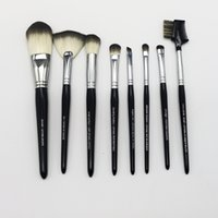 artist authentic - Christmas Gift Authentic Brand Professional Synthetic Black Face and Eye Mixed Trade Best Artist Makeup Brush Set With Bag