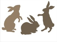 stencil airbrush stencil designs - DIY white airbrush stencils pattern design Masking template For Scrapbooking cardmaking painting DIY cards T shirts the rabbit