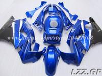 Negro azul para Honda CBR 600 F2 91-94 CBR600 F2 1991-1994 1992 1993 CBR600 F2 91 92 93 94 carenados + regalos # r8u32 envío gratis