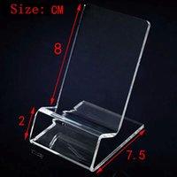 Acrylique Téléphone portable téléphone portable Supports d'affichage Supports pour 6inch iphone Samsung HTC xiaomi huawei sony chaud