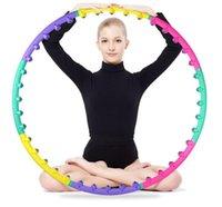 Wholesale Magnet massage hula hoop Removable Fitness HULA Hoop Plastic Abdominal Massage Hula Hoops CM diameters