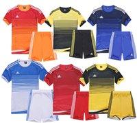 Wholesale Football suits youth adult football jersey team soccer uniform custom print name number logo men kits
