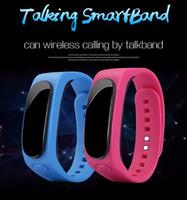 Cheap B1 Bracelet Smart Smart Pedometer Podomètre Surveillance Bluetooth Wristband Sync Bluetooth mains libres Casque Ecouteur pour iOS Android