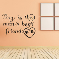 best friend quotes - For Dog Is The Man s Best Friend Quote Funny Vinyl Decal Love Heart Paw Print Bedroom Drawing Room Wall Sticker