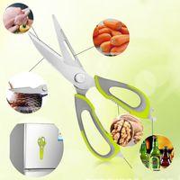 Wholesale 2016 Multifunction Kitchen Scissors Food Chopper Cutter Slicers Kitchen Knife Scissors Stainless Steel Kitchen Gadgets Meat