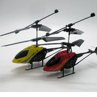 Wholesale 2 Channel Electric Micro Brushless Mini RC Helicopters Remote Control Wireless Infrared Aircraft Toys With Gyro Color Randomly Sent