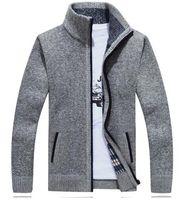 Wholesale Factory Direct Sale Brand Fashion Sweater Men s Zipper Cardigans Long Sleeve Warm Sweaters Men Coats