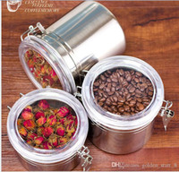 Wholesale Hot sale Stainless steel food seal pot Fresh pot tea coffee beans dry moisture storage tank