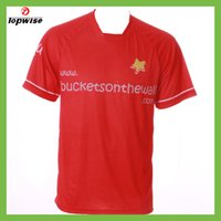 Wholesale TOPWISE The football shirt Male or female red polyester Soft absorbent Stretch for regular thickness The sublimation thermal transfer
