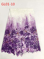 Wholesale China supplier African print lace fabric guipure cord lace fabric for nigeria dresses