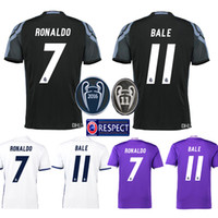 Wholesale 2016 Real Madrid Scccer Jersey Cheap Mens Sets High Quality RONALDO BENZEMA SERGIO RAMOS ISCO BALE KROOS Jerseys