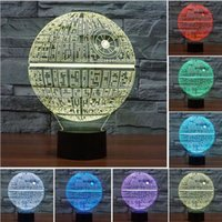 Wholesale Force Awakens Multi colored Death Star Table Lamp Kids toy D Lamp Death Star Bulbing Light Touch Switch Lava Lamp for Star Wars Fans