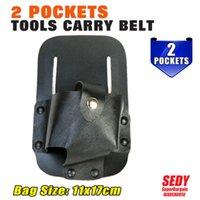 Acheter Outils pour cuir-Wholesale-2016 Nouveau 2 poches outils de transport Belt 11X17cm cuir véritable électeur haute qualité 90518